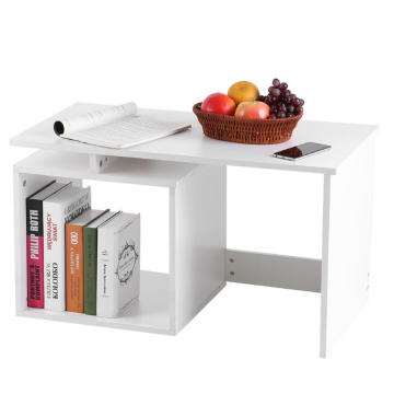 Unique Table Basse Coffre À Thé Blanc